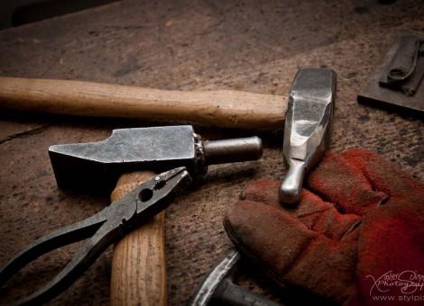 Pascal Chesneau outils metal artiste sculpteur Moyaux Normandie