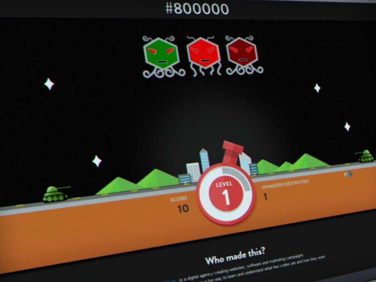 Hex Invaders Space Invaders en couleurs HEX