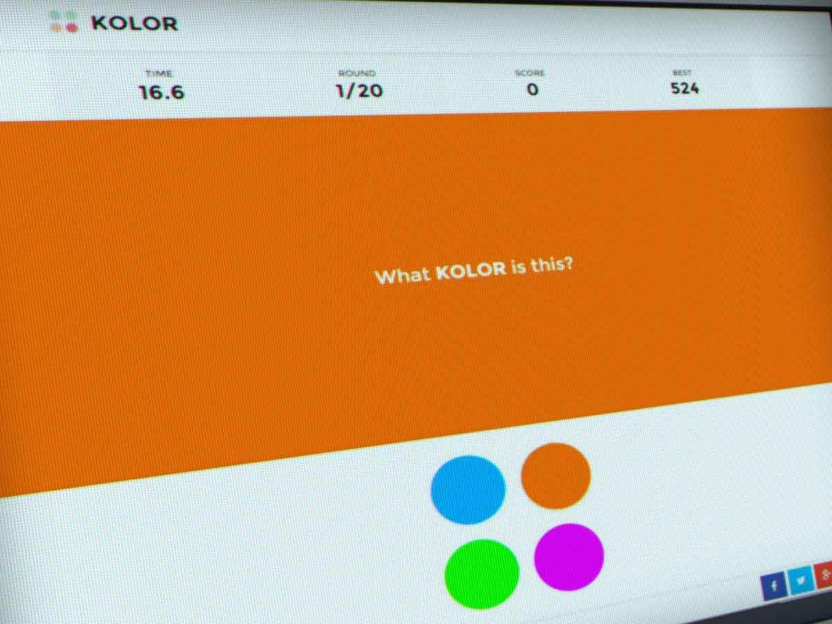 Kolor jeu de couleurs d'écran