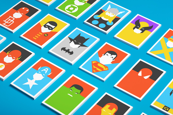 superheros flat design