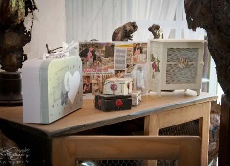 Sylvia Chesneau boites bois cartons atelier plume ange Normandie