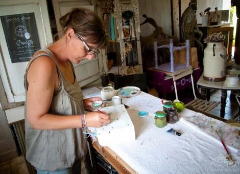 Sylvia Chesneau peinture fait main Calvados Normandie
