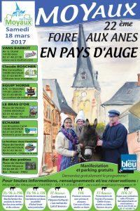 Affiche Foire aux ânes moyaux 2017